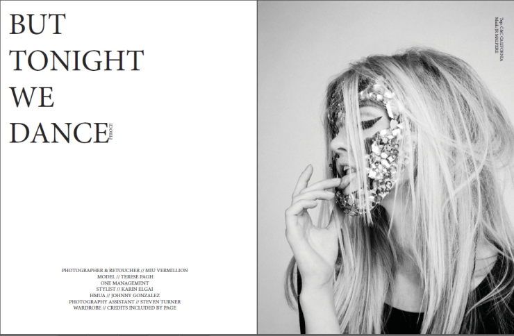 black and white dark fashion editorial by miu vermillion