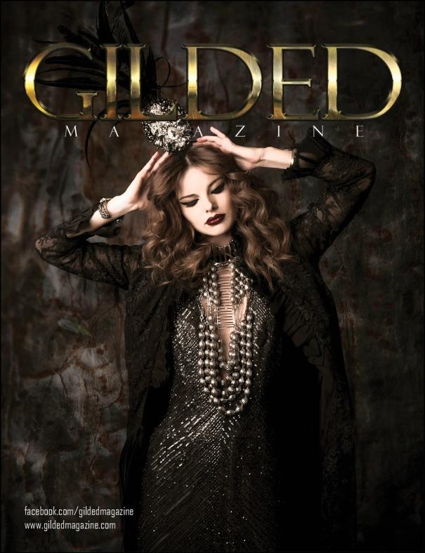 miu vermillion gilded magazine issue 3.1 back cover dark fashion photography