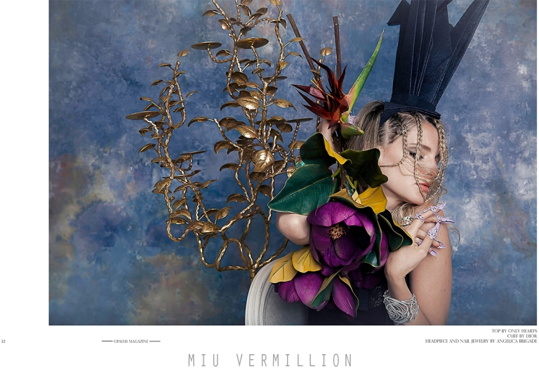Miu Vermillion for OPALUS Magazine Issue 007 - Golden: A fashion editorial