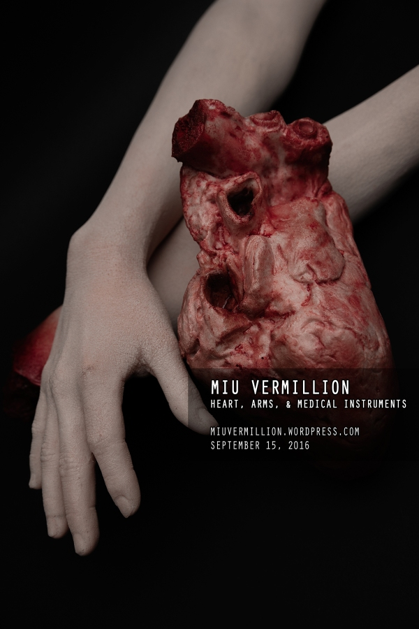 miu vermillion - stock photography - faux severed arms