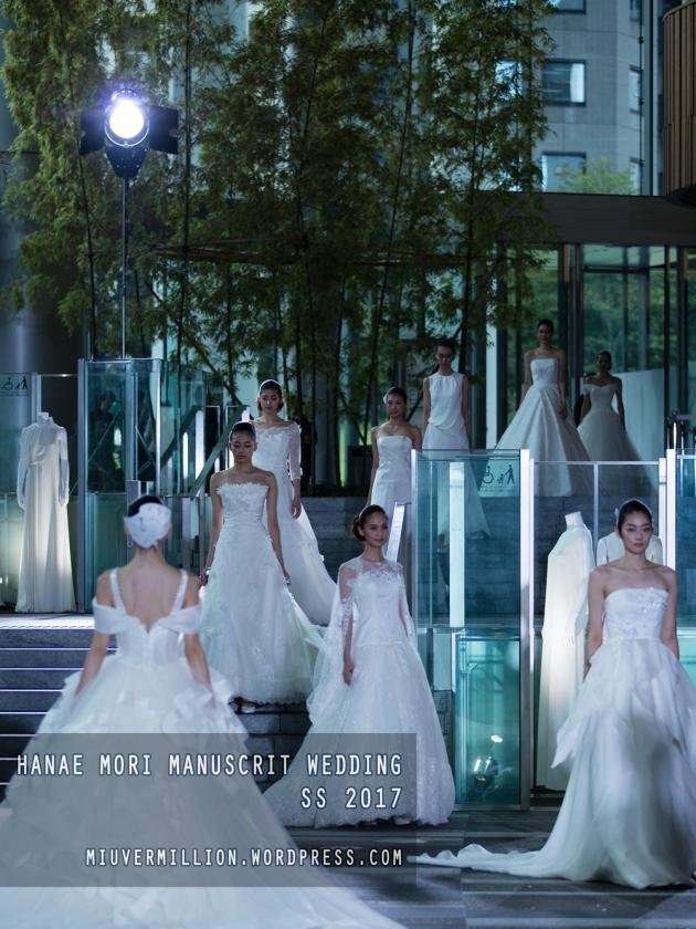 Hanae Mori Manuscrit Wedding SS 2017   Amazon Fashion Week Tokyo - Photographed by Miu Vermillion