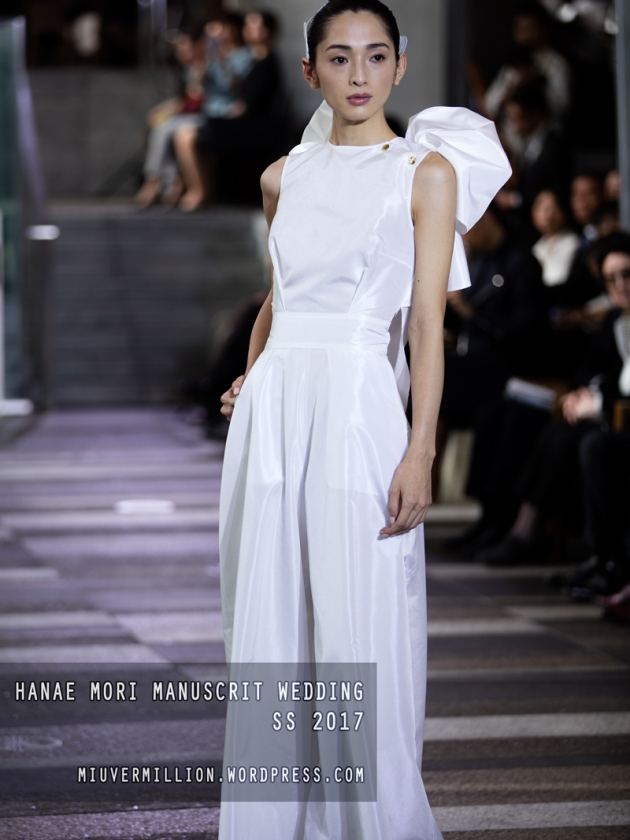 Hanae Mori Manuscrit Wedding SS 2017 | Amazon Fashion Week Tokyo - Photographed by Miu Vermillion