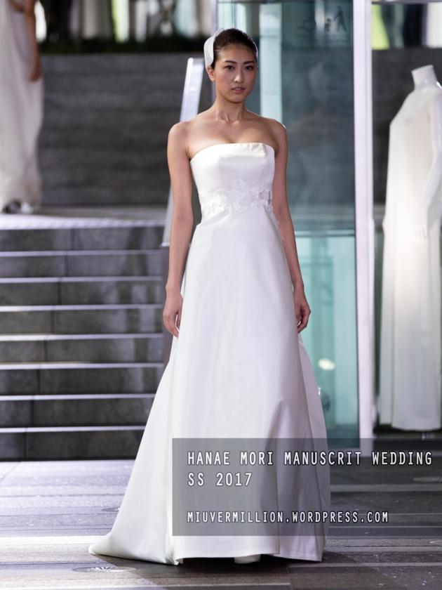 Hanae Mori Manuscrit Wedding SS 2017 | Amazon Fashion Week Tokyo - Photographed by Miu Vermillion
