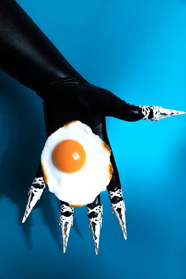 Miu Vermillion - Sunny Side Up Fried Eggs, Claws, and Black Glove